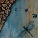 Malerei-Dragonfly-Öl auf Leinwand-Anja Brinkmann