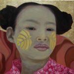 Kinderportrait-Tribes-Burma-Öl auf Leinwand-Anja Brinkmann