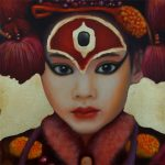 Kinderportrait-Tribes-Nepal -Öl auf Leinwand-Anja Brinkmann--
