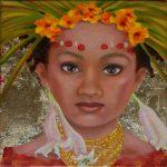 Kinderportrait-Tribes-Öl auf Leinwand-Anja Brinkmann