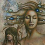 Der Dämon in uns-Malerei-Öl auf Leinwand-Anja Brinkmann