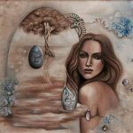 Der Lebensbaum-Malerei-Öl auf Leinwand-Anja Brinkmann
