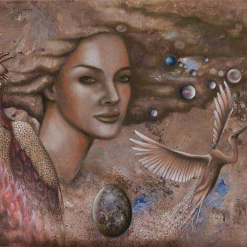 Der Phönix-Malerei-Öl auf Leinwand-Anja Brinkmann