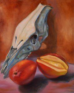 Malerei-Memento Mori 2-Öl auf Leinwand-Anja Brinkmann