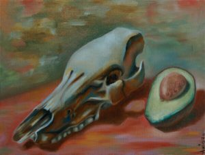 Malerei-Memento Mori 3-Öl auf Leinwand-Anja Brinkmann