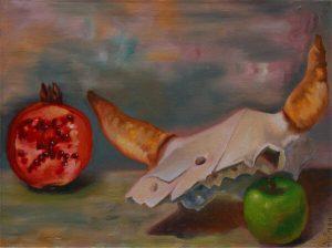 Malerei-Memento Mori 4-Öl auf Leinwand-Anja Brinkmann