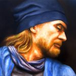 Portrait Can 2-Öl auf Leinwand-Anja Brinkmann
