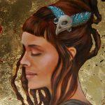 Portrait-Gold-Öl auf Leinwand-Anja Brinkmann