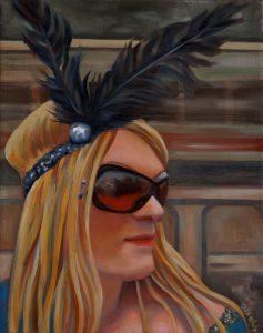 Portrait Jule-Öl auf Leinwand-Anja Brinkmann