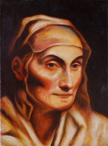 Portrait Kopie Guido Reni-Öl auf Leinwand-Anja Brinkmann