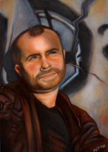 Portrait Lars-Öl auf Leinwand - Anja Brinkmann-