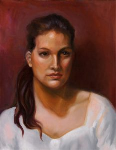Portrait Pia-Öl auf Leinwand-Anja Brinkmann