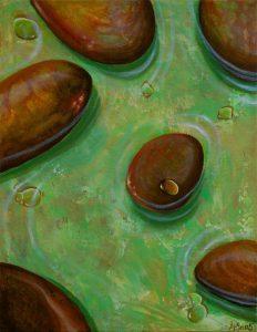 Malerei-Steine im Wasser II 2005-Acryl auf Leinwand-Anja Brinkmann