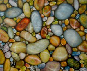 Malerei-Steine im Wasser II 2016-Öl auf Leinwand-Anja Brinkmann