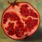 Malerei-Stilleben mit Granatapfel-Öl auf Leinwand-Anja Brinkmann
