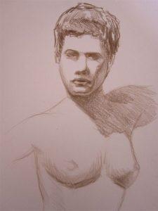 Zeichnung-brasilianische Frau -Anja Brinkmann