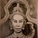 Ankor Wat Cambodia-Zeichnung-Anja Brinkmann
