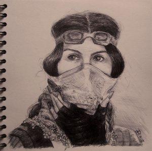 Demo Tuerkei II-Zeichnung-Kugelschreiber-Anja Brinkmann