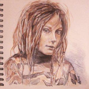 Portrait eines Jungen-Zeichnung-Kugelschreiber-Anja Brinkmann