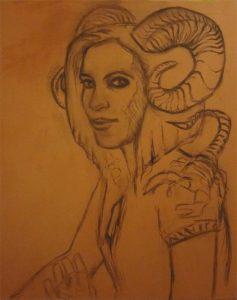Work in progress-the scorpio-Zeichnung-Anja Brinkmann