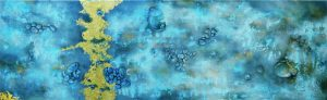 Steine-Struktur-blau-gold I-Anja Brinkmann