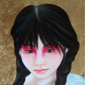 Kinderportrait-Tribes-China-Öl auf Leinwand-Anja Brinkmann