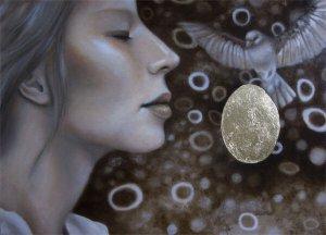 Malerei-Achtsamkeit-Anja Brinkmann-Öl auf Leinwand