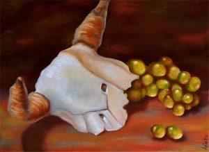 Malerei-Memento Mori 5-Öl auf Leinwand-Anja Brinkmann