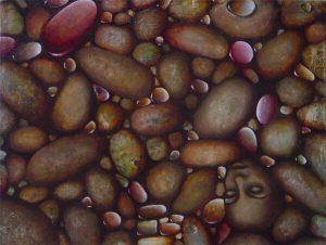 Malerei-Steine 2006-Acryl auf Leinwand-Anja Brinkmann
