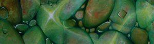 Malerei-Anja Brinkmann-Steine im Wasser