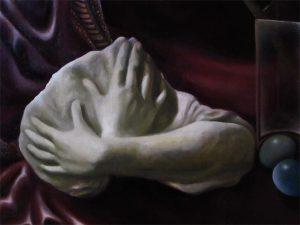 Stilleben-Skulptur Arme-Öl auf Leinwand-Anja Brinkmann