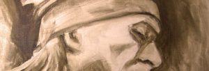 Malerei, Untermalung, Portrait, Anja Brinkmann