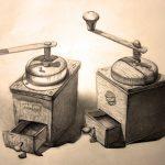 Kaffeemühlen-Zeichnung-Anja Brinkmann