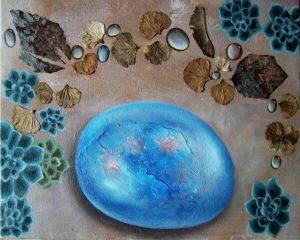 Steine-Malerei-winter leaves II-Anja Brinkmann